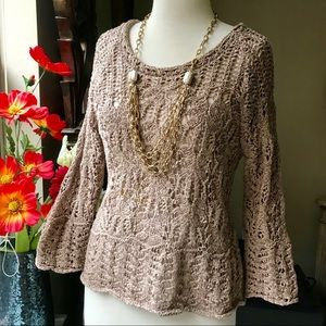 Gorgeous open weave ribbon thread sweater